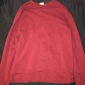 ASOS, Burgundy Long Sleeve Sweater
